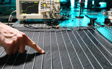 Smart textile fibers measure wearer's health