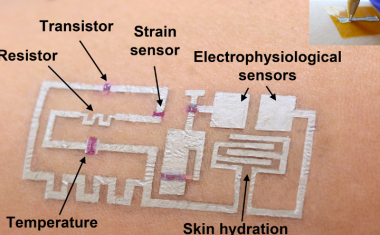 Breakthrough in wearable monitors due to drawn-on-skin electronics
