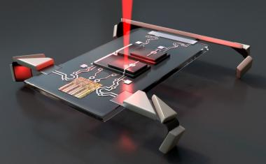 Laser jolts microscopic robots into motion