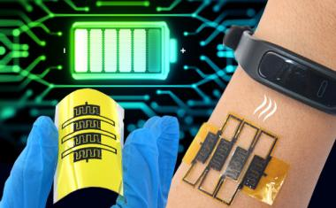 Micro-supercapacitors to self-power wearables