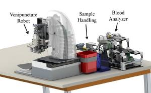 An automated robotic device for faster blood testing