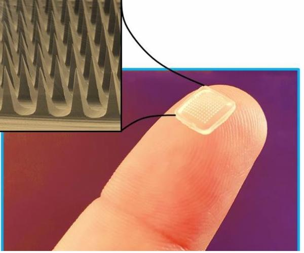 Microneedles for painless drug delivery