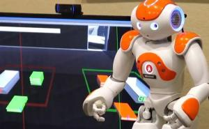 Robot-guided video game gets older adults moving