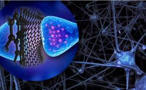 Graphene flakes to control neuron activity