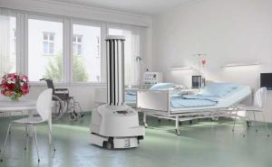 The UVD Robot destroys hospital bugs
