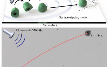 Acoustically driven microrobot outshines natural microswimmers
