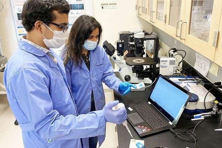 Med School Research Scientist Timsy Uppal and Engineering post-doctoral...