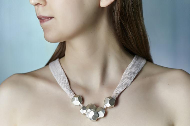 The Smart Heart necklace is a wearable cardiac monitor necklace with the...