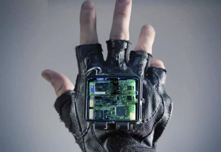 The new glove aims to treat symptoms of stroke through vibration.