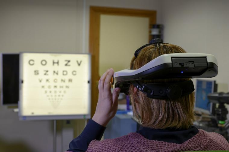 The new system SimVis allows patients to experience how their vision will...