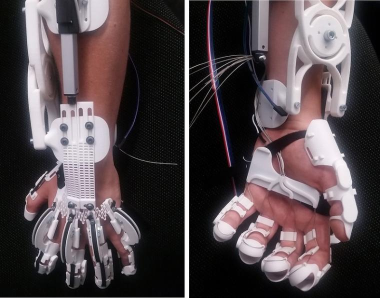 Researchers at the University of Stuttgart have built an exoskeleton with which...
