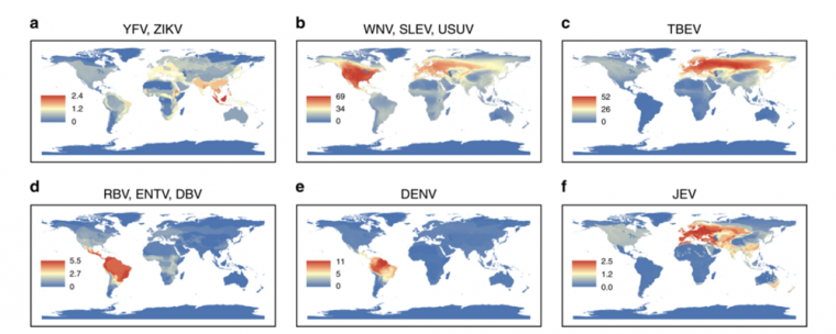 This map, Fig. 4 in the study in Nature Communications, shows the geographical...
