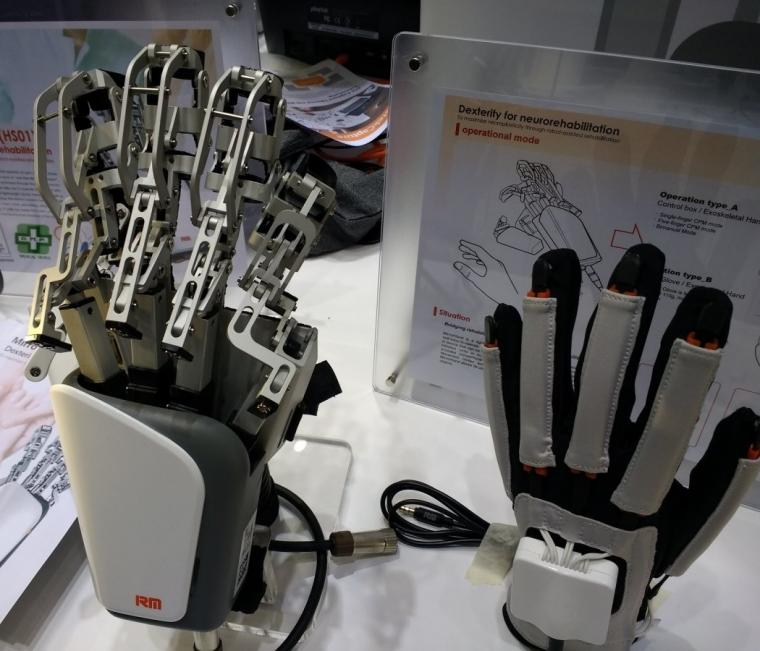The 'mirror hand' helps stroke patients to regain hand movements by linking...