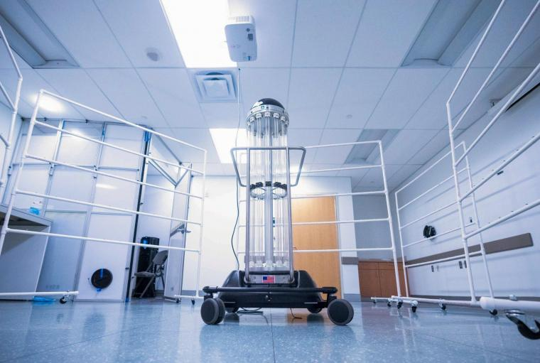UVA Health obtained the robot, assembled it, trained staff on its use and put...