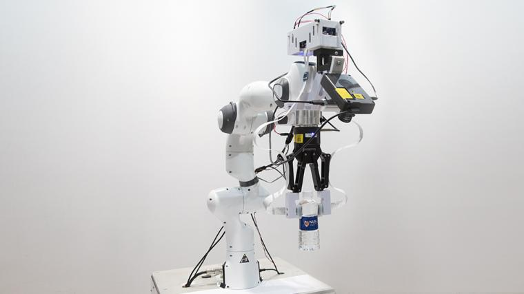 his novel robotic system developed by NUS researchers comprises an artificial...