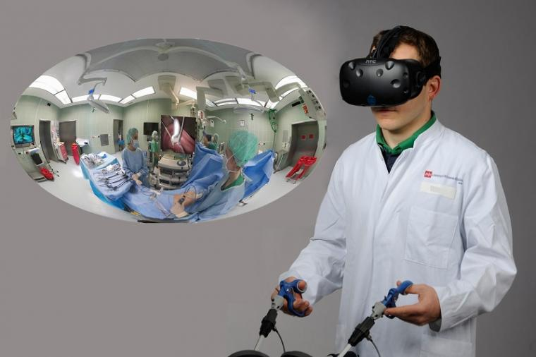 Training of laparoscopic interventions with the help of a VR simulator and...