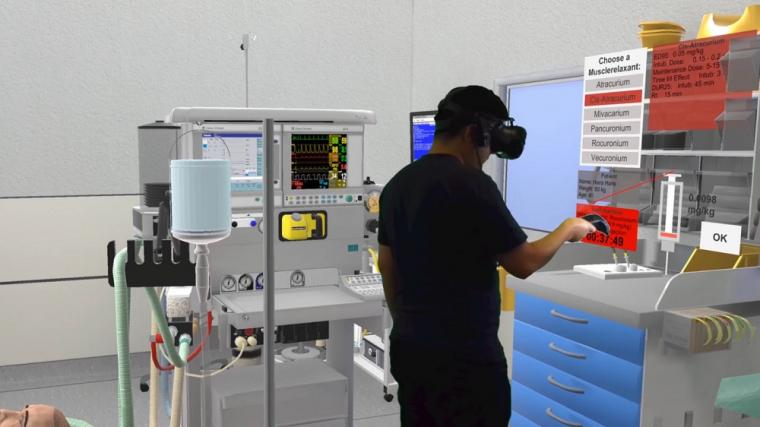 VR scenario for anesthesia for communication training in the event of...