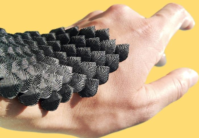 Next-generation cast inspired by animal scales
